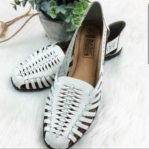 Basic editions woven leather sandals